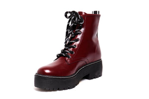 *NEW* Bordo Patent Combat Boots