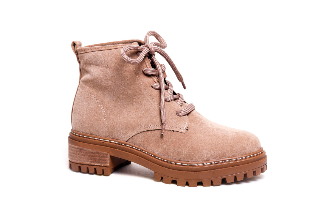 *NEW* Sand Suede Combat Boots