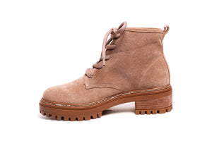 *Sand Suede Combat Boots