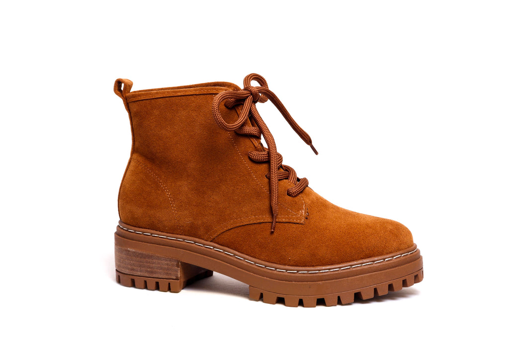 *NEW* Whisky Suede Combat Boots