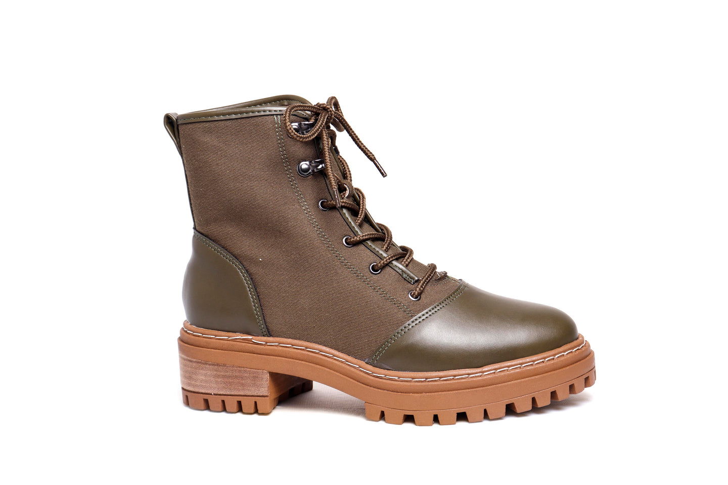 *NEW* Olive Green Twill Combat Boots