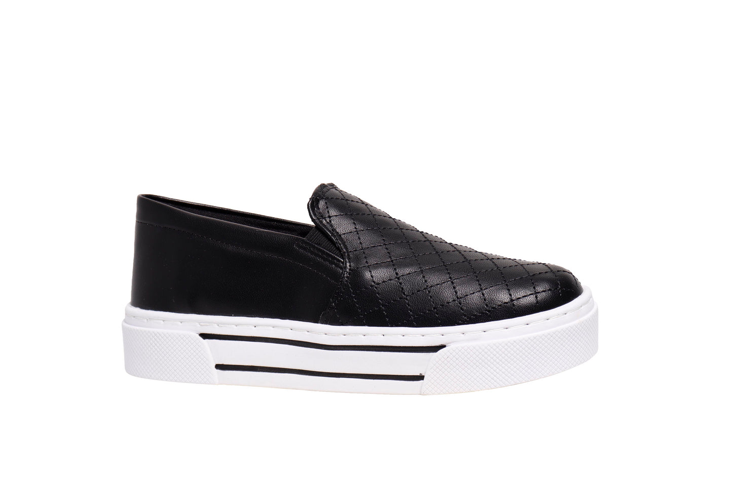 *NEW* Black Napa Slip On Sneakers