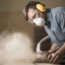 Workplace Hazard Silicosis Dust Man Sanding