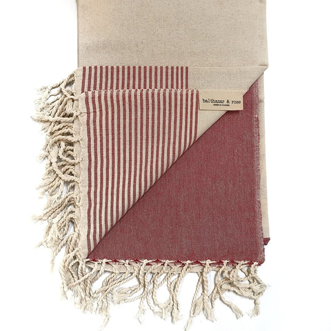 RED Fouta: Flat Weave Red