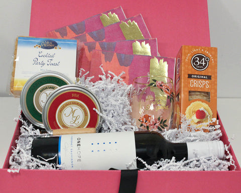 Mother's Day Wine, Cheese and Cracker Gift Box That Gives Back