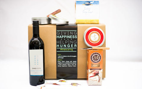 CHEESE, CRACKERS, CHOCOLATE & WINE Housewarming Gifts that Give Back