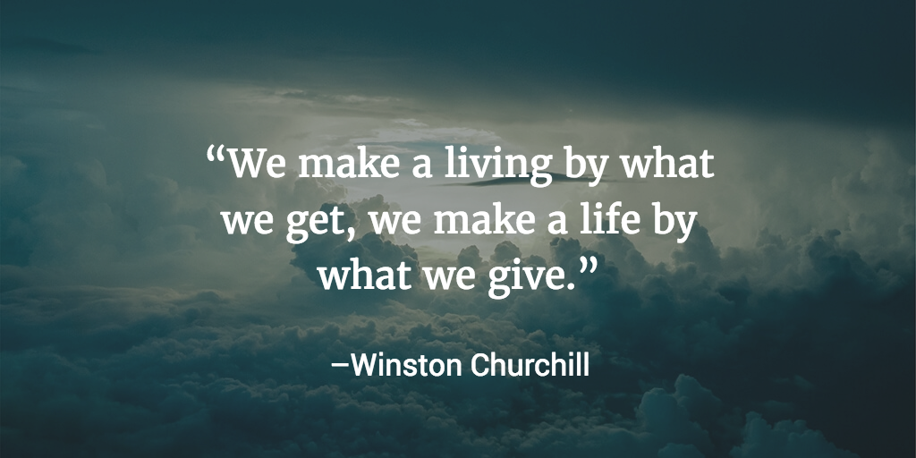 A quote about the habit of helping others by Winston Churchill