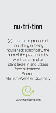 Hunger Defined: Nutrition