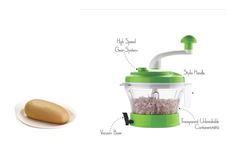 N07 4 in 1 Atta Dough Maker with Vegetable Cutter & Chopper, Beater-Multi