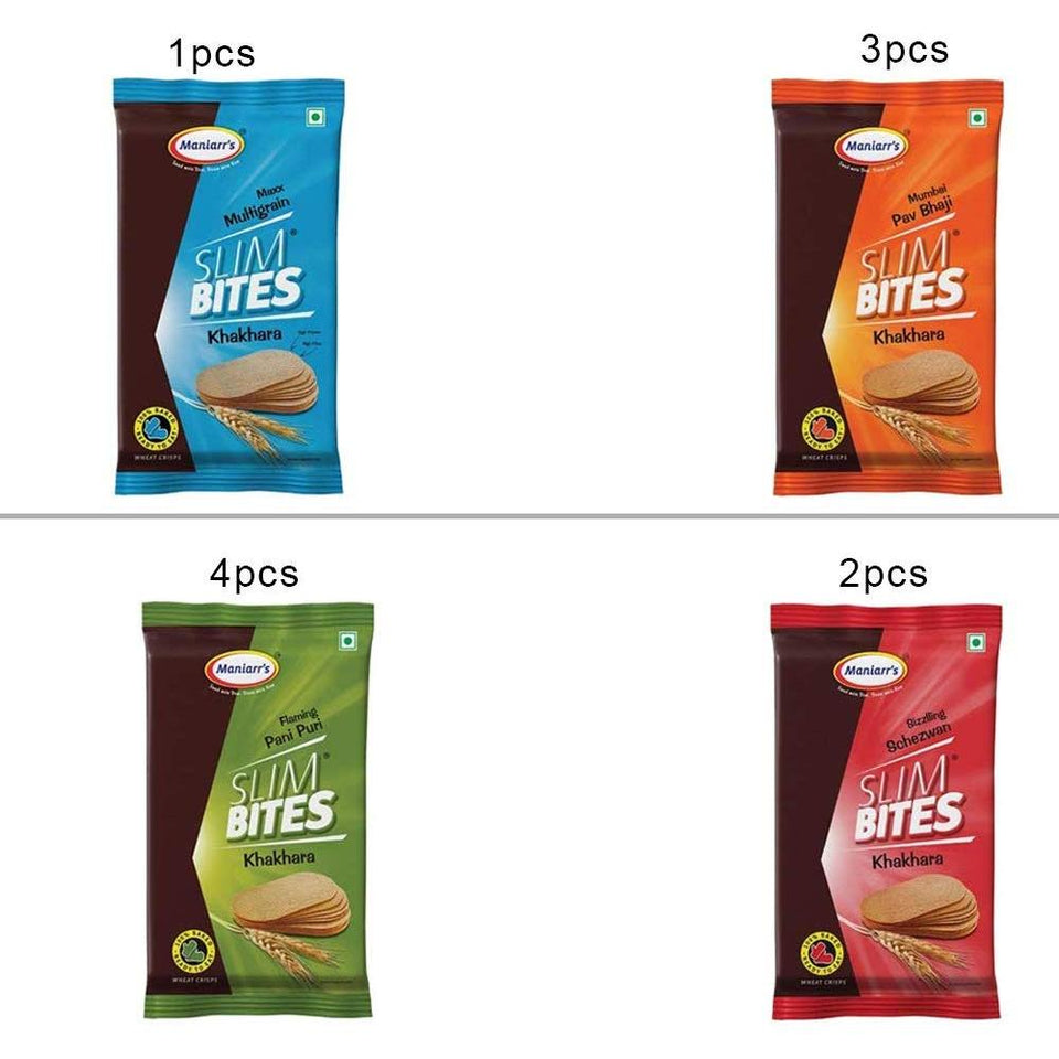 038 A3 Slim bites khakhra (Pack of 8)