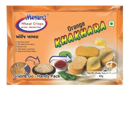 033 Orange Khakhra (Pack of 8)