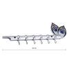 "317_Flute Shape Stainless Steel Key Holder Stand ( Chrome Antique Finish, 9"" X 2"", Silver)"
