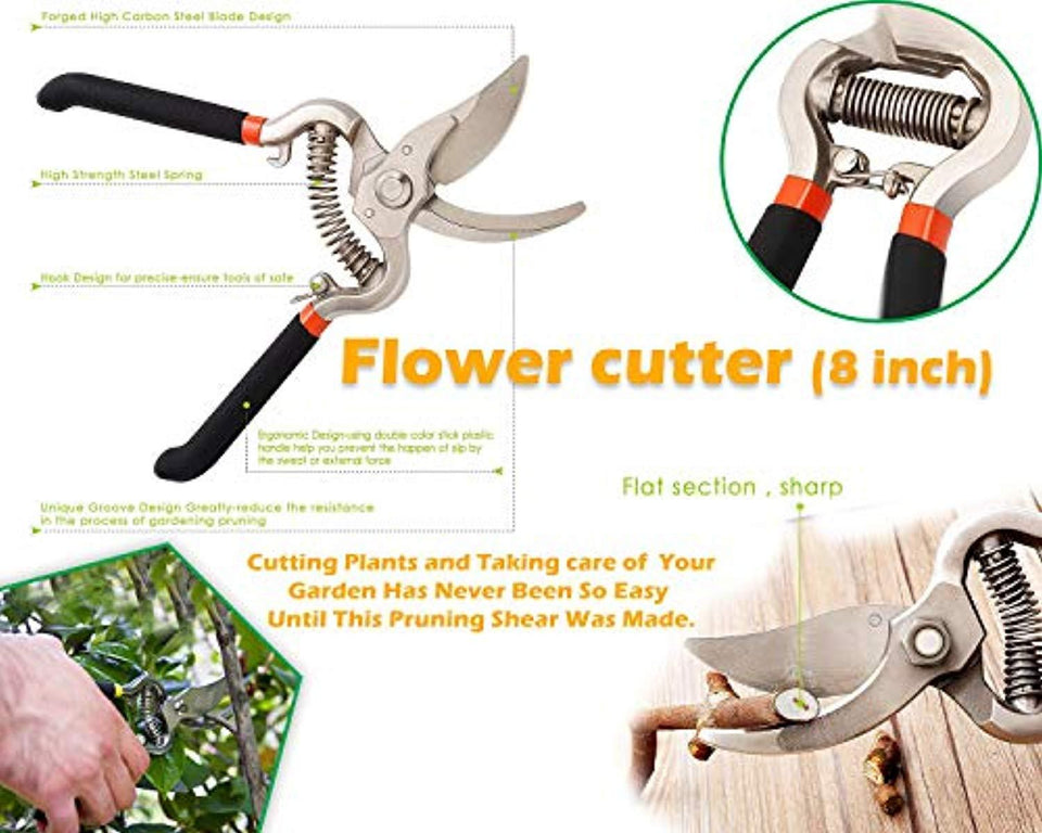 eBizmour Gardening Tools - Gardening Gloves and Flower Cutter/Scissor/Pruners