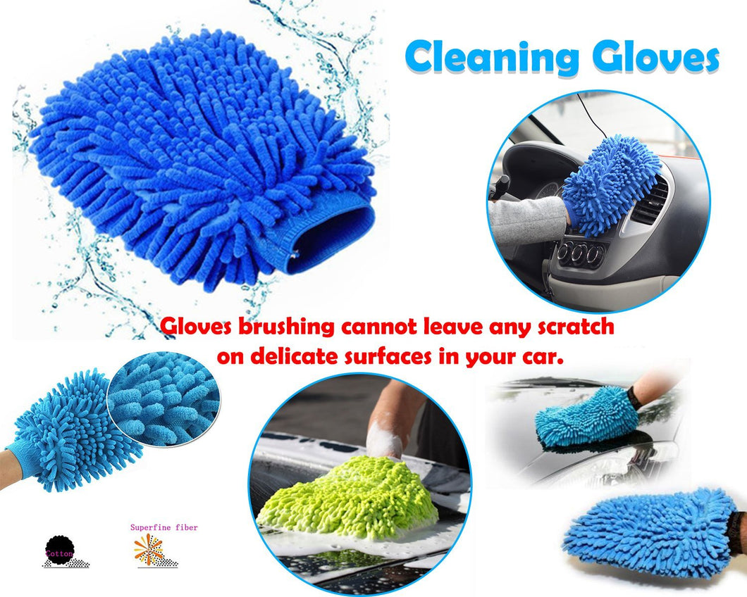 Cleaning Tool - Double Sided Microfiber Super Mitt Hand Glove Duster for Car/Office/Home, Buy 1 get 1 pc | Microfiber Gloves | Microfiber Super Mitt