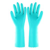 653 - Cut Glove Reusable Rubber Hand Gloves (Green) - 1 pc