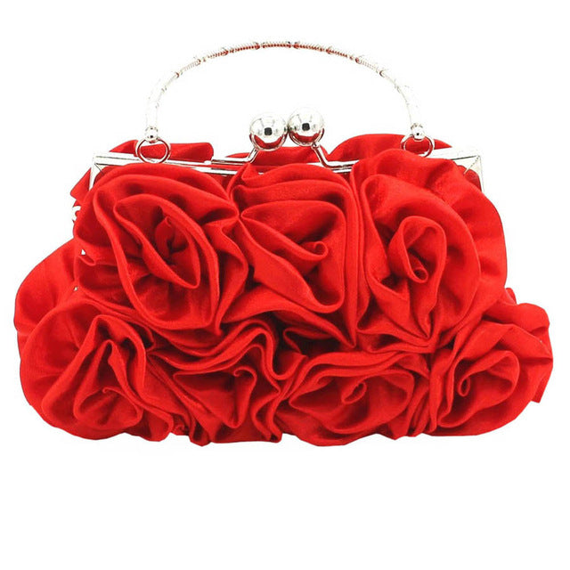 Satin Rose  Handbag