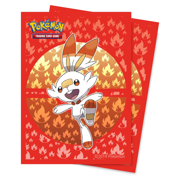 Pokemon Sleeves Sword and Shield Galar Starters Scorbunny (65)