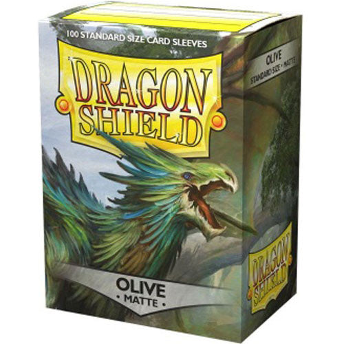 Dragon Shield Matte Olive Sleeves (100)