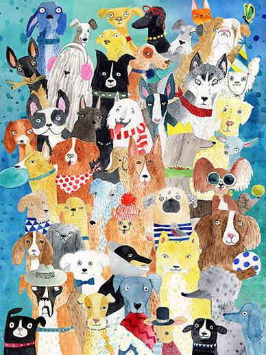 500 Colorful Canines