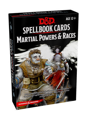 Dungeons & Dragons 5e Spellbook Cards: Martial Powers & Races