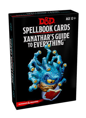 Dungeons & Dragons 5e Spellbook Cards: Xanathar's Guide to Everything