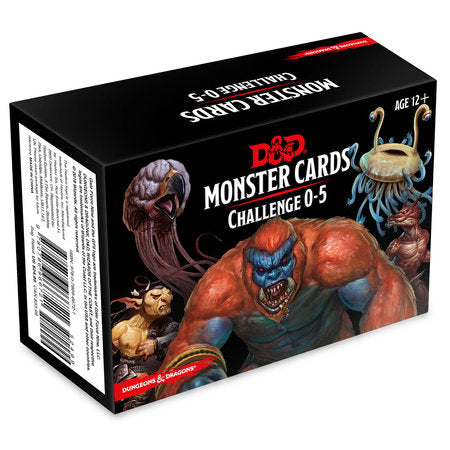 Dungeons & Dragons 5e Monster Cards: Challenge 0 to 5