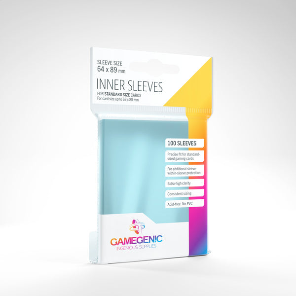 Gamegenic Inner Sleeves Standard Clear (100)