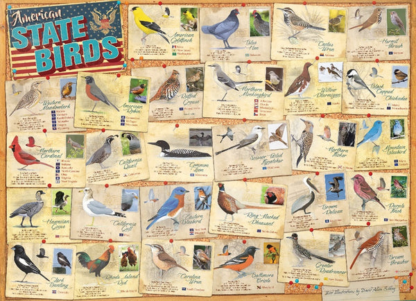 1000 American State Birds