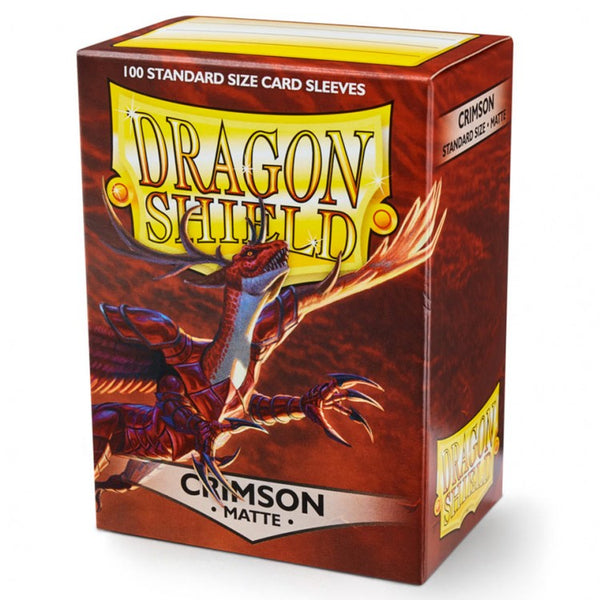 Dragon Shield Matte Crimson Sleeves (100)
