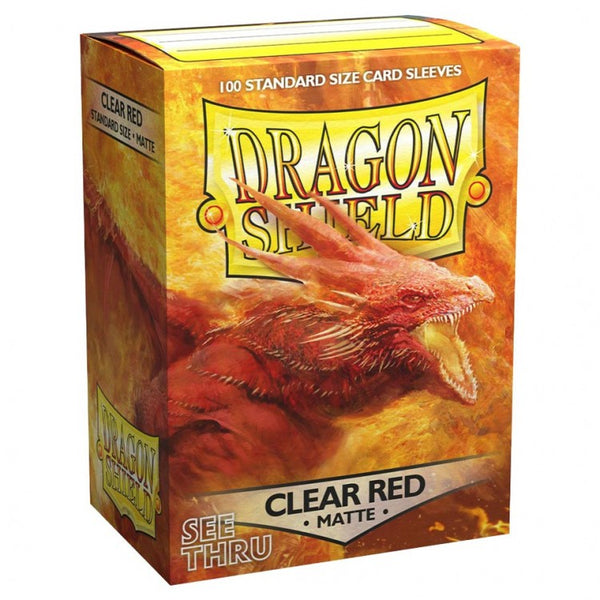 Dragon Shield Matte Clear Red Sleeves (100)
