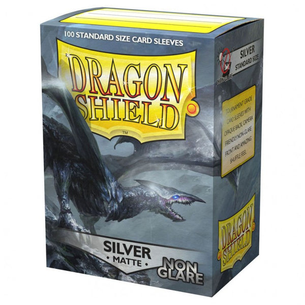 Dragon Shield Matte Non-Glare Silver Sleeves (100)