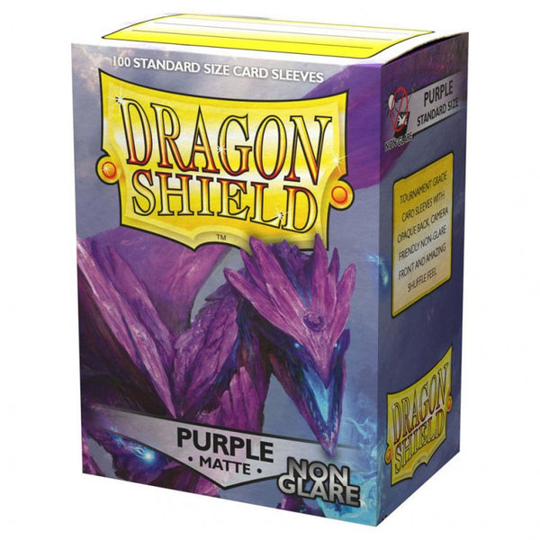 Dragon Shield Matte Non-Glare Purple Sleeves (100)