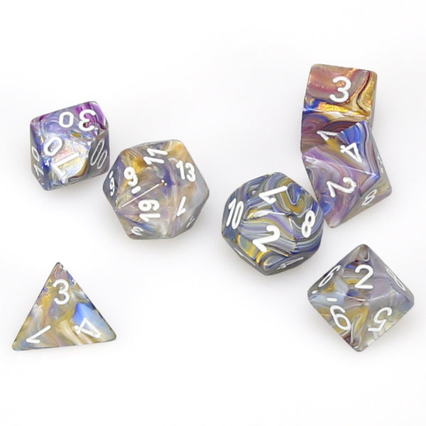 Festive Polyhedral Carousel/white 7-Die Set