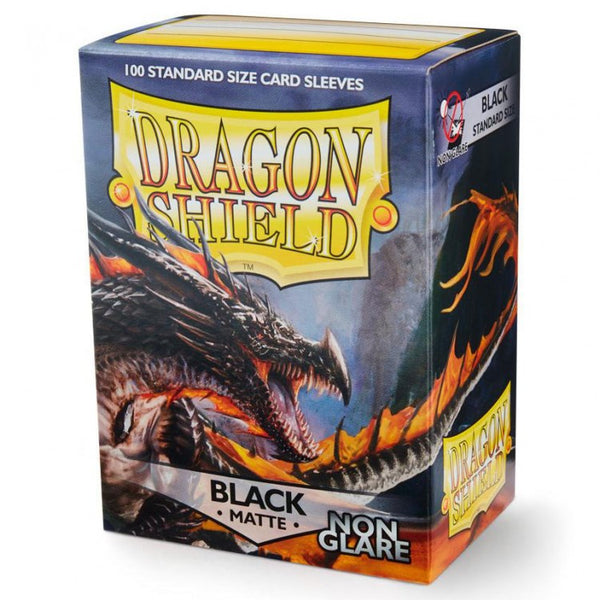 Dragon Shield Matte Non-Glare Black Sleeves (100)