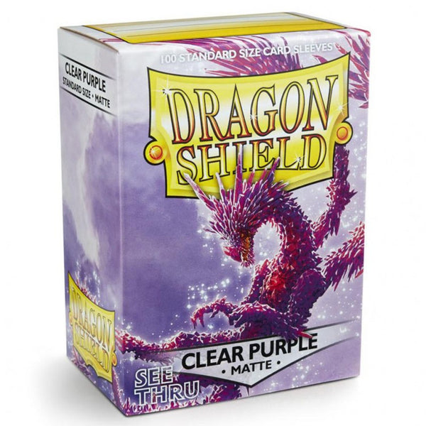 Dragon Shield Matte Clear Purple Sleeves (100)