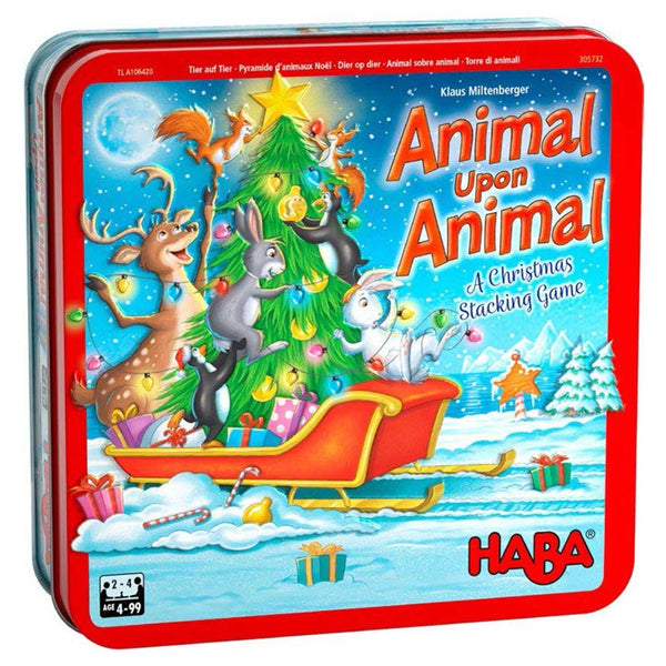 Animal Upon Animal Christmas Tin