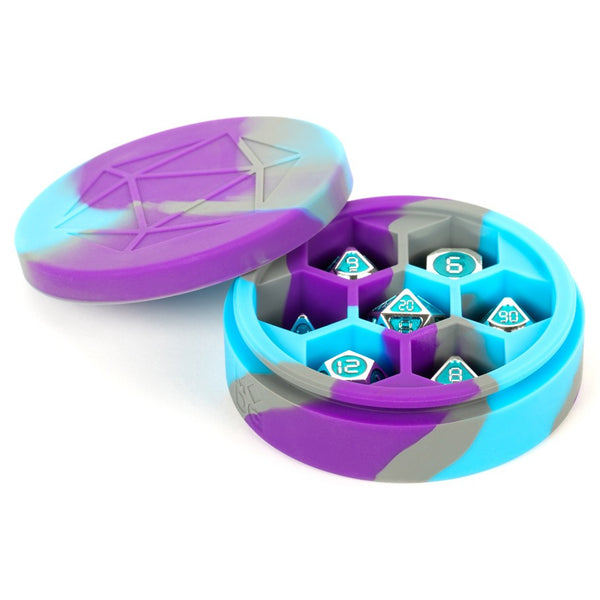 Silicone Dice Case Purple Blue