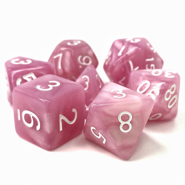 Poison Petals Pink Pearl Opaque 7-Die Set