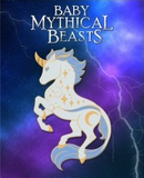 Baby Mythical Beast Enamel Pin: Unicorn (Color Variants)