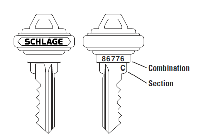 Schlage C Keyway Cut Key