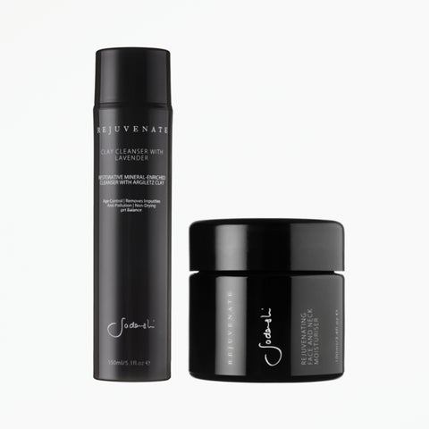 Hydrate Duo for Dry / Aging Skin - Rejuvenate Moisturiser & Cleanser