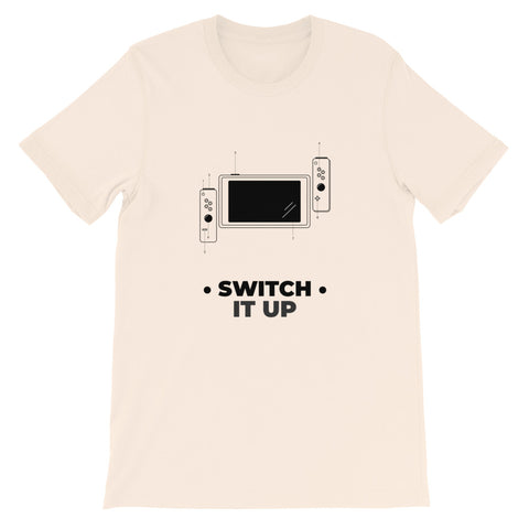 Switch it up - Short-Sleeve Unisex T-Shirt (black text)
