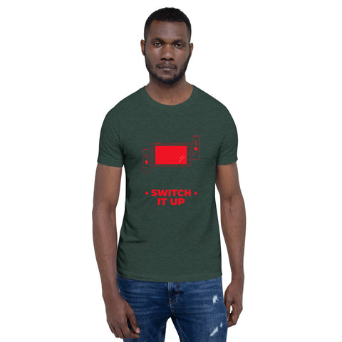 Switch is up - Short-Sleeve Unisex T-Shirt (red text)