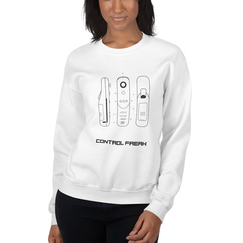 Control Freak -  Unisex Sweatshirt (black text)