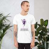 Across the Galaxy - Short-Sleeve Unisex T-Shirt ( purple )