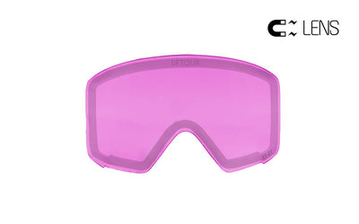 Detour Axis Snow magnetic lenses for snow goggles rose quartz color