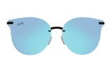 Hurricane - Matte Black - Sky Blue Polarized