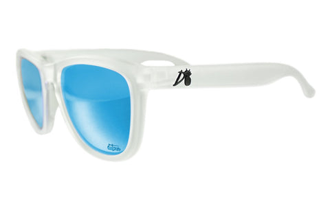 Essentials - Frosted Clear - Electric Blue Lens Polarized - Essentials