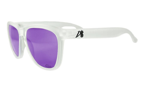 Essentials - Frosted Clear - Purple Lens Polarized - Essentials