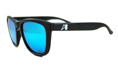 Essentials - Matte Black - Electric Blue Lens Polarized - Essentials